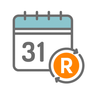 A picture showing a calendar icon